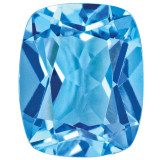 Blue Topaz 8X6mm Cushion Gemstone, MPN: BT-0806-CUF-AA