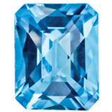 Blue Topaz 10X8mm Octagon Checkerboard Gemstone, MPN: BT-1008-OCX-AA