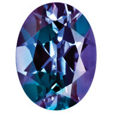 Created Alexandrite 5X3mm Oval Gemstone, MPN: CA-0503-OVF