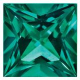 Created Emerald 3mm Princess Gemstone, MPN: CE-0300-SQP