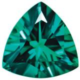 Created Emerald 5mm Trillion Gemstone, MPN: CE-0500-TRF