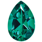 Created Emerald 5X3mm Pear Gemstone, MPN: CE-0503-PSF