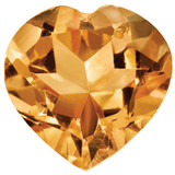 Citrine 4mm Heart Faceted Gemstone, MPN: CI-0400-HTF-AA