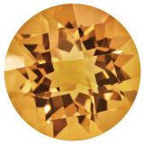 Citrine 6mm Round Checkerboard Gemstone, MPN: CI-0600-RDX-AA