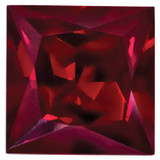 Created Ruby 4mm Princess Gemstone, MPN: CR-0400-SQP