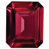 Created Ruby 5X3mm Emerald Cut Gemstone, MPN: CR-0503-OCE