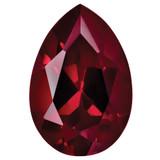 Created Ruby 5X3mm Pear Gemstone, MPN: CR-0503-PSF