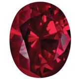Created Ruby 6X4mm Oval Gemstone, MPN: CR-0604-OVF