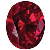 Created Ruby 10X8mm Oval Gemstone, MPN: CR-1008-OVF