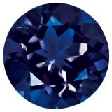 Created Sapphire Blue 1.25mm Round Gemstone, MPN: CS-0125-RDF-BL