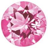 Created Sapphire Pink 1.25mm Round Gemstone, MPN: CS-0125-RDF-PK
