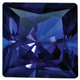 Created Sapphire Blue 4mm Princess Gemstone, MPN: CS-0400-SQP-BL