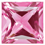Created Sapphire Pink 4mm Princess Gemstone, MPN: CS-0400-SQP-PK