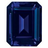 Created Sapphire Blue 5X3mm Emerald Cut Gemstone, MPN: CS-0503-OCE-BL