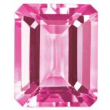 Created Sapphire Pink 5X3mm Emerald Cut Gemstone, MPN: CS-0503-OCE-PK