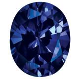 Created Sapphire Blue 5X3mm Oval Gemstone, MPN: CS-0503-OVF-BL