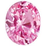 Created Sapphire Pink 5X3mm Oval Gemstone, MPN: CS-0503-OVF-PK