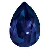Created Sapphire Blue 5X3mm Pear Gemstone, MPN: CS-0503-PSF-BL