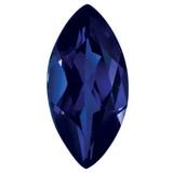 Created Sapphire Blue 6X3mm Marquise Gemstone, MPN: CS-0603-MQF-BL
