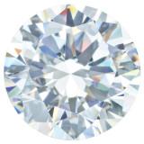 Cubic Zirconia White 1mm Round Gemstone, MPN: CZ-0100-RDF-WH-AAA