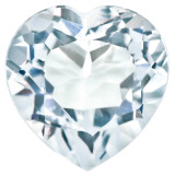 Cubic Zirconia White 4mm Heart Faceted Gemstone, MPN: CZ-0400-HTF-WH-A
