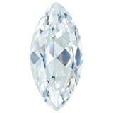 Cubic Zirconia White 4X2mm Marquise Gemstone, MPN: CZ-0402-MQF-WH-A