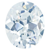 Cubic Zirconia White 4X3mm Oval  Gemstone, MPN: CZ-0403-OVF-WH-AAA