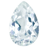 Cubic Zirconia White 4X3mm Pear  Gemstone, MPN: CZ-0403-PSF-WH-AAA