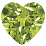 Peridot 4mm Heart Faceted Gemstone, MPN: PE-0400-HTF-AA