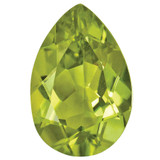 Peridot 5X3mm Pear Gemstone, MPN: PE-0503-PSF-AA