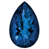 Sapphire Blue 4X3mm Pear Gemstone, MPN: SA-0403-PSF-BL-A