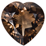 Smoky Quartz 5mm Heart Faceted Gemstone, MPN: SQ-0500-HTF-AA