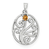 14K White Gold Genuine Pendant Family, MPN: WM1440-1GY