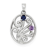 14K White Gold Genuine Pendant Family, MPN: WM1440-2GY