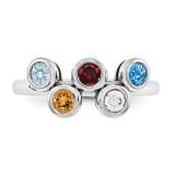 14K White Gold Genuine Ring Family WM1441-5GY