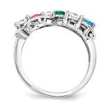 14k White Gold Diamond Ring Family WM1446-6AAA