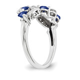 14k White Gold Diamond Ring Family WM1446-8AAA