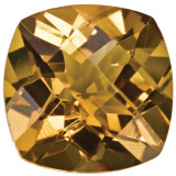 Whiskey Quartz 8mm Cushion Checkerboard Gemstone, MPN: WQ-0800-CUX-AA