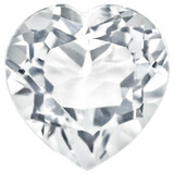 White Topaz 3mm Heart Faceted Gemstone, MPN: WT-0300-HTF-AA