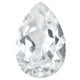 White Topaz 5X3mm Pear Gemstone, MPN: WT-0503-PSF-AA