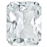 White Topaz 6X4mm Octagon Radiant Cut Gemstone, MPN: WT-0604-OCR-AA