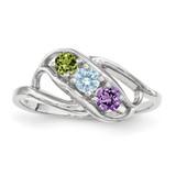 Genuine 3 Stone Mother's Ring 14k White Gold MPN: XMR1/3WGY, UPC: 883957151168