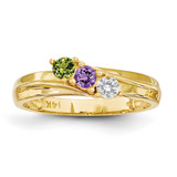 3 Stone Mother's Ring 14k Yellow Gold Genuine MPN: XMR10/3GY, UPC: 883957151267