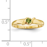 1 Stone Mother's Ring 14k Yellow Gold Genuine XMR11/1GY