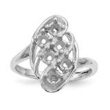 Mothers & Family 14K White Gold Polished 6-Stone Ring Mounting MPN: XMR3/6W-7, UPC: 191101538711