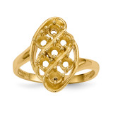 Mothers & Family 14k Yellow Gold Polished 7-Stone Ring Mounting MPN: XMR3/7-7, UPC: 191101538728