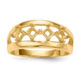 Mothers & Family 14k Yellow Gold Ring Mounting MPN: XMR63/4-7, UPC: 191101539312