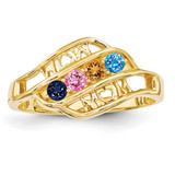 14k Yellow Gold Genuine Ring Family & Mother MPN: XMR66/4GY, UPC: 191101539640