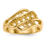 Mothers & Family 14k Yellow Gold Ring Mounting MPN: XMR66/5-7, UPC: 191101539701