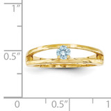 14k Yellow Gold 3mm Genuine Ring Family & Mother XMR71/1GY